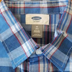 Old Navy Shirts & Tops - Plaid button down boys shirt
